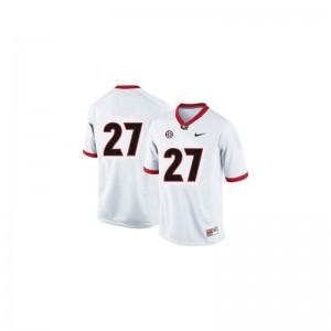 University of Georgia Nick Chubb Jerseys #27 White Game For Women Jerseys