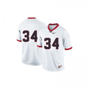 Women Herschel Walker Jersey Alumni #34 White Game Georgia Bulldogs Jersey