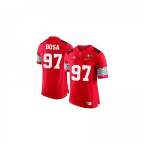 Ohio State Joey Bosa Jerseys S-2XL Womens Limited - #97 Red Diamond Quest 2015 Patch