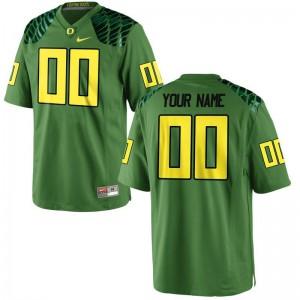 Oregon Ducks Custom Jersey S-XL For Kids Limited - Apple Green Alternate