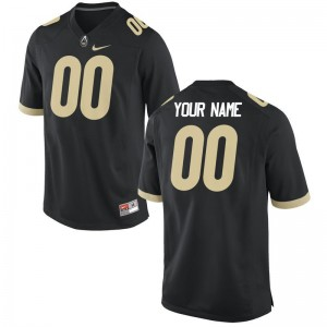 Purdue University College Custom Jerseys Limited Kids Black