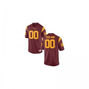 Trojans College Custom Jersey Limited Youth(Kids) - Cardinal