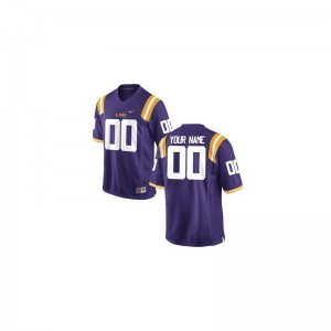 LSU College Customized Jersey Purple Limited Youth(Kids)