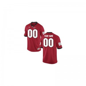 Georgia Limited Customized Jersey Red For Kids