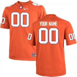 Clemson University Orange Team Color Limited For Kids Custom Jersey S-XL