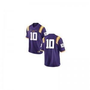 Limited Anthony Jennings NCAA Jerseys Louisiana State Tigers For Kids #10 Purple