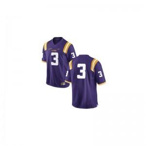 LSU Tigers Kevin Faulk Jersey Youth(Kids) Game - #3 Purple
