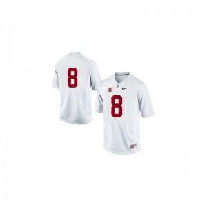 Julio Jones Alabama Crimson Tide Jerseys #8 White Youth(Kids) Limited
