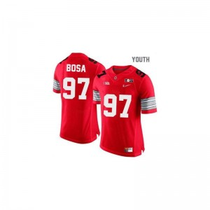 Joey Bosa Ohio State Alumni Jerseys #97 Red Diamond Quest National Champions Patch Youth Game