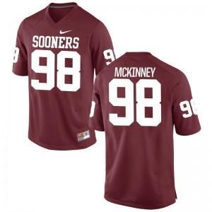 Zacchaeus McKinney Sooners Player Jerseys Limited For Men - Crimson