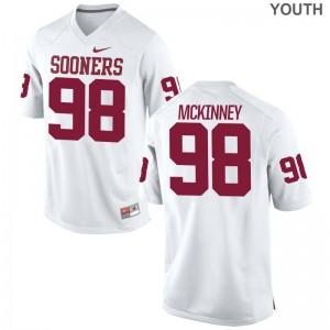 Sooners Zacchaeus McKinney Kids White Game Jersey
