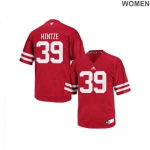 Zach Hintze University of Wisconsin Jersey For Women Replica Red