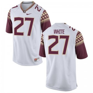 Florida State Zaquandre White Game Men Jersey - White