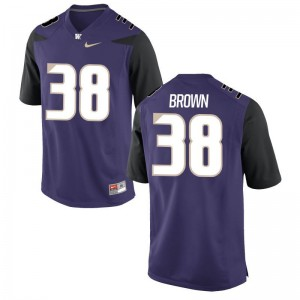 Zechariah Brown Mens College Jerseys Purple Limited UW