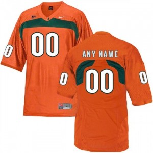 University of Miami Player Customized Jersey Limited Orange For Men