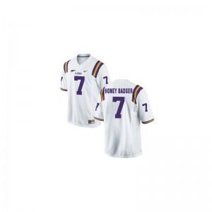 LSU Tyrann Mathieu Jerseys S-XL (Honey Badger) White For Kids Game